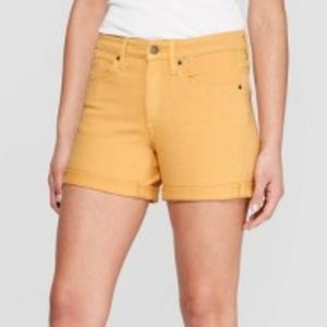 Women's High-Rise Double Cuff Jean Shorts - Univer